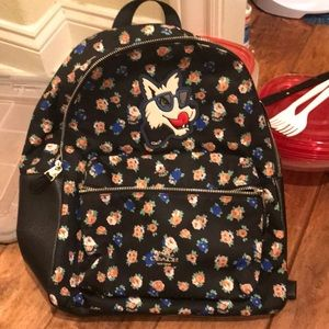 Coach Floral Wolf Backpack